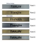 Tianjin Clock Name Plate |World Time Zone City Wall clocks Sign custom Plaque